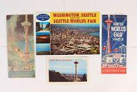 Vintage 1962 SEATTLE WORLD'S FAIR Map Post Card Souvenir Book Tourist Guide