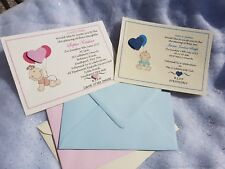 10 Personalised Christening Baptism Invitations Childrens Baby Boy Girl Twins