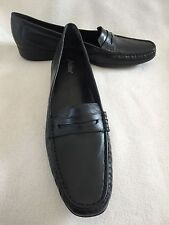 New Auditions Black Leather Penny Loafers sz 12 S