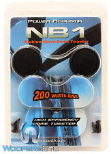 """POWER ACOUSTIK NB-1 1"""" SURFACE ANGLE 200W MICRO DOME TWEETERS NIOBIUM MAGNET NEW"""
