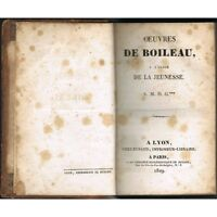 Œuvres de BOILEAU à l'usage de la JEUNESSE A.M.D.G*** Biographie Éd. RUSAND 1829