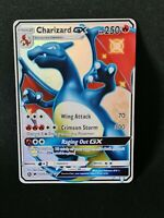 Proxy Charizard Glurak GX Pokemon Card with Holoeffect