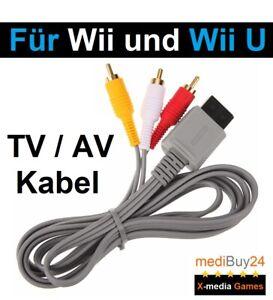 Nintendo Wii AV TV Kabel für Wii und Wii U Konsole Anschlusskabel Fernsehkabel