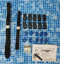 SOLAR COVER STRAP KIT FOR CONNECTING SWIMMING POOL COVER TO ROLLER