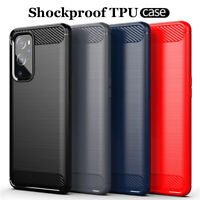 For OnePlus 9/9 Pro 8T+ 5G 8 7T Pro Shockproof Carbon Fiber Soft TPU Case Cover