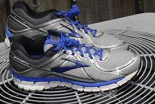 Brooks Adrenaline GTS 16 men's running shoe, gray/silver, US size 14 wide (2E)