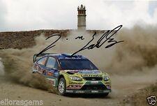 "Rally Driver Jari-Matti Latvala Hand Signed Photo Ford WRC 12x8"" AD"