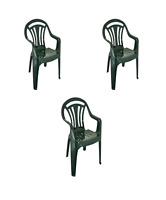 Plastic Low Back Chairs Garden Stackable Chair Patio Outdoor Party Picnic Seat