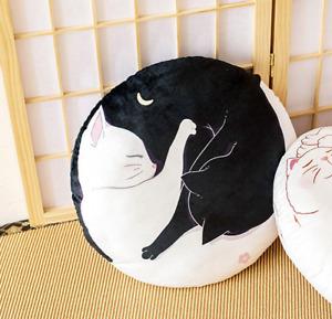 1pc Cute Cat print Round Plush Cushion Anime Soft Pillow