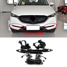 For Mazda CX-5 2017-2020 LED Front Bumper Fog Light with/Bulbs+Switch+Wire Kit