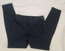 Nine West Jeans Skinny Side Zip Womens Denim Size 2/26, Dark Blue Euc!