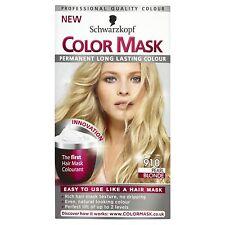 4 X Schwarzkopf Colore Maschera Colore Permanente 910 Biondo Pearl