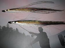 2 V FLY 1.5 Pollici in Nylon Ultimate Alta Nero Sunray OMBRA Tubo Salmone Mosche