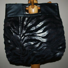 shi Journeys Purse Handbag Black Trendy Magnetic Snap Closure Animal Print COOL