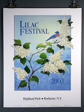 Lilac Festival Poster 2003 Rochester NY, Highland Park