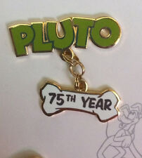 Disney Pluto's 75th Anniversary Pin Set Pluto and Dangle Bone Pin Only LE 1500