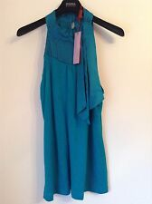 BNWT 100% Auth Monsoon, Ladies Blue Top With Silk Trim. UK14 RRP £65