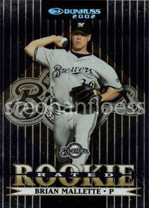 2002 Donruss Stat Line Career #159 Brian Mallette RR 162/273  Milwaukee Brewers