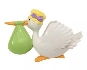 Decopac Stork Cake Topper Party Baby Shower Decoration Gender Reveal Vintage