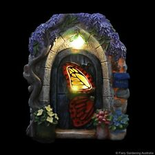 """Papillon"" Solar Fairy Door Fairy cottage Home Garden Craft Décor"