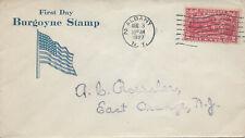U.S., Scott #644 Burgoyne, First Day Cover, Roessler cachet, Albany, N.Y.