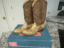 Nice Vintage TONY LAMA Cowboy Boots  EE Mens Giant Snakeskin Snake Boots USA