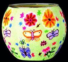 Plaristo - GLOWING GLASS TEA LIGHT CANDLE HOLDER - Butterflies