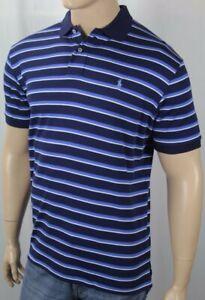 Ralph Lauren Navy White Navy Stripe Interlock Polo Shirt Blue Pony NWT