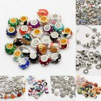 Mixed Tibet Silver Beads Spacer For Jewelry making European Bracelet Wholesale