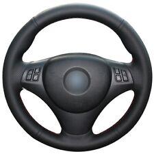 Black Leather Car Steering Wheel Cover for BMW E90 325i 330i 335i E87 120i 130i