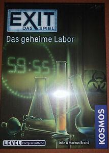 """Exit -das Spiel """"das geheime Labor"""" OVP"""