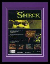 Shrek 2001 XBox 11x14 Framed ORIGINAL Vintage Advertisement