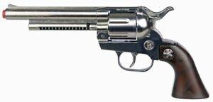 Cowboy Revolver 12 Schuss Metall Pistole Kinder Waffe Spiel Knarre Deko Western