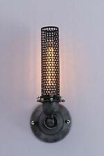 Black Wrought Iron Metal Mesh Wall Sconce Bar Porch Steampunk Lamp