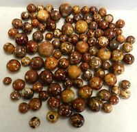 #12944m Vintage Group or Bulk Lot of 100 German Handmade Bennington Marbles