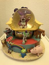 Large Disney Pixar Toy Story 3 Buzz Lightyear Lotso Snow Globe With BOX