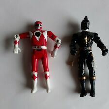 """Red and Black  Mighty Morphin Power Rangers 4"""" Action Figures Bandai 1995 M"""