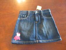 "Gymboree Crazy 8 Jean Skirt Girl 12  Adjustable Waist blue Denim NWT W 26"" owl"