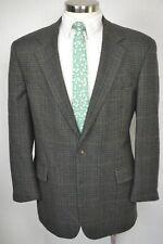 (44R) Brooks Brothers Men's Brown Scotch Plaid Wool Blazer Sport Coat Jacket