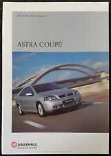 Vauxhall Astra Coupé- 2001 Models Brochure Edition 1, 31 Pages