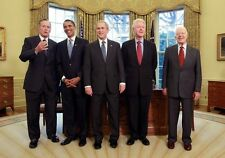 RARE 5 Presidents Group PHOTO, Barack Obama, Bill Clinton, Carter George W Bush