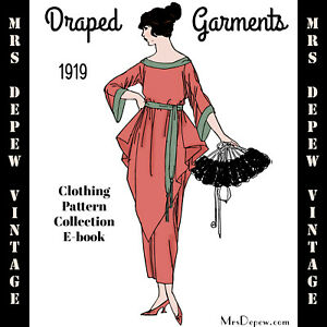 Vintage Sewing Pattern Collection 1919 Draped Garments Book Dresses Lingerie CD