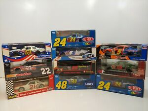 Lot of (10) 1:24 scale NASCAR Diecast Cars - Brand New in Box - NC9