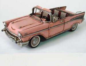 Chevrolet Bel Air Convertible (1957, 1/10 scale diecast model car, Pink Figurine