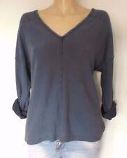 Vintage Damen-Pullover & -Strickware aus Baumwolle mit V-Ausschnitt