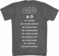 Star Wars Street Poetry Movie List Adult Tee Graphic T-Shirt for Men Tshirt