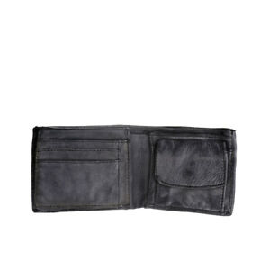 Man's wallet in leather aged look with coin pocket by DUDU