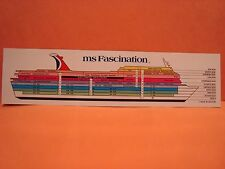 FASCINATION MS THE FUN SHIP CARNIVAL MOST POPULAR CRUISE LINE OF WORLD DECK PLAN