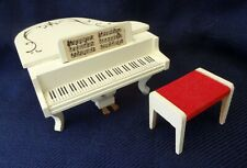 Vintage 70's LUNDBY Doll~Dollhouse Furniture: GRAND PIANO w/BENCH from Sweden