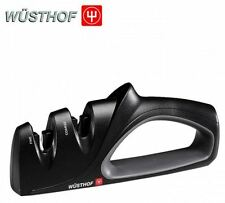 NEW WUSTHOF CLASSIC PRECISION EDGE 2 STAGE KNIFE SHARPENER CUTLERY BLACK CHEFS